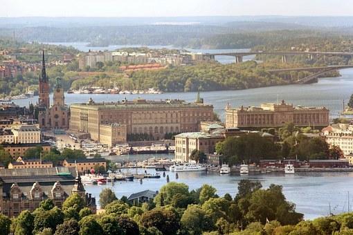 王宮, スウェーデン, ストックホルム, 航空写真