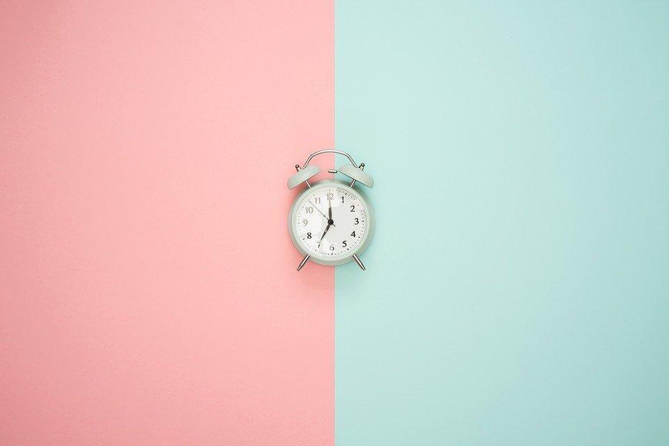 時間, クロック, 目覚まし時計, パステル調の色, 時計